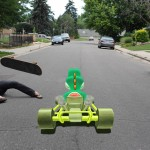 Mario Kart stop-motion animation 3D chalk image